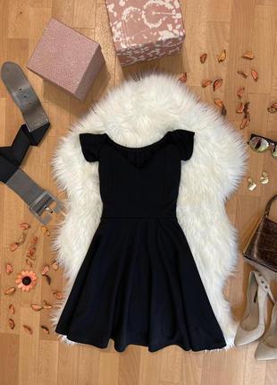 Актуальное платье мини со спущенными плечами №219max