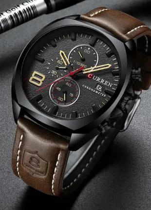Часы мужские кварцевые Curren 8324 Black-Brown