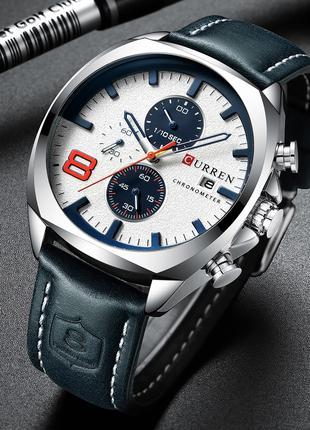 Часы мужские кварцевые Curren 8324 Silver-White