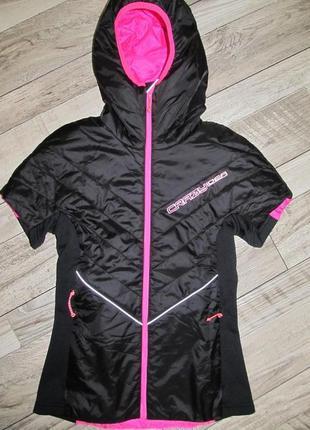 Эксклюзив куртка с коротким  рукавом crazy idea р. xs италия