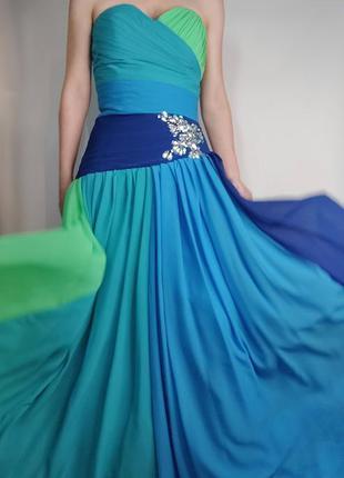 Шикарное воздушное выпускное платье, корсет, вечерние платье, ...