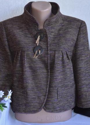 Брендовое коричневое демисезонное пальто полупальто next турци...