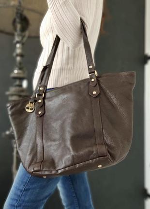 Timberland. большая сумка из натуральной кожи.