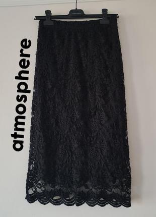 Шыкарная стильная черная ажурная юбка в идеальном состоянии 🖤 ...