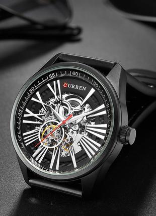 Механические мужские часы Curren 8299 All Black