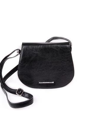 Маленькая сумочка через плечо, почтальонка, кросс боди черного...
