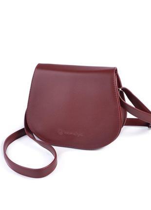 Маленькая сумочка через плечо, почтальонка, кросс боди бордово...