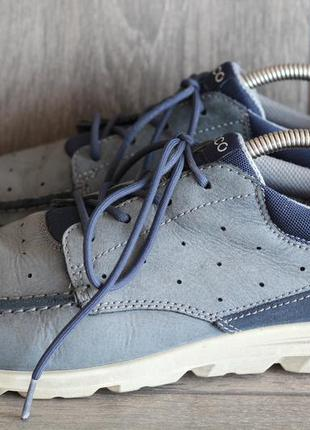 Фирменные кожаные туфли-мокасины ecco