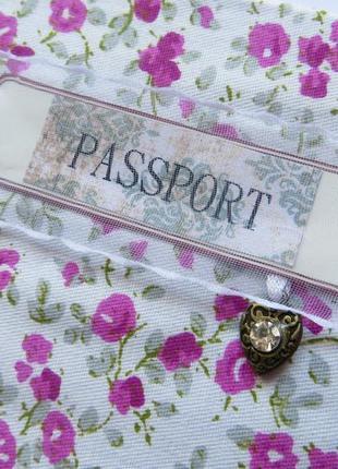 Винтажная handmade обложка для паспорта
