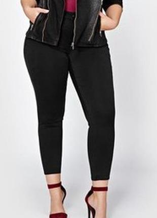 Суперовые стрейчевые чёрные джинсы скинни леггинсы на резинке ...