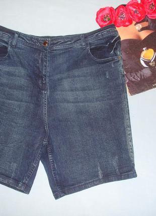 Шорты джинсовые женские летние размер 52-54 /20 с вышивкой стр...