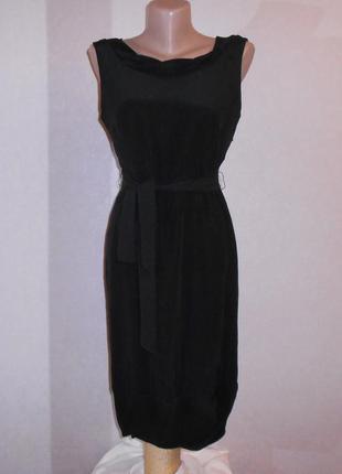J.crew маленькое черное платье, в составе шелк, р.xs-s