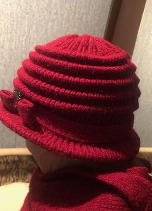 Немецкое качество. вязанная шляпа+шарфик