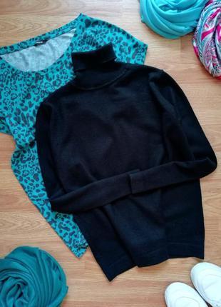 Женский базовый шерстяной гольф - свитер - италия - размер 48
