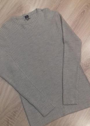 Распродажа! свитер мужской бежевый в резинку размер xl
