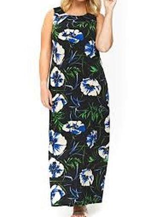 Шикарное длинное платье в цветы evans evans
