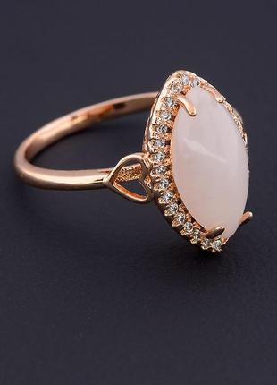 Кольцо 'pataya' розовый кварц (позолота 18к) 0597480