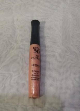 Bourjois effet 3d brillance les nudes 37 rose or chic, блеск д...