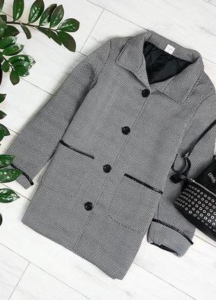 Флисовое легкое пальто с кожаными вставками и карманами anne d...