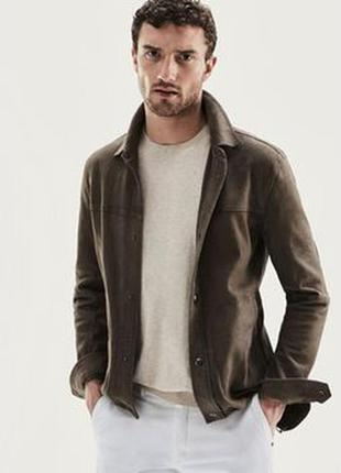 Курточка с натуральной замши massimo dutti
