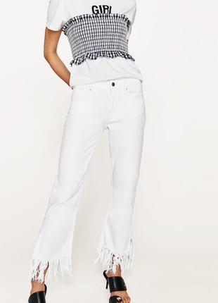 Белые джинсы zara