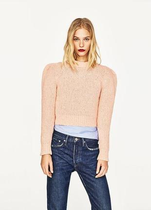 Zara свитер с рукавами-пуховиком