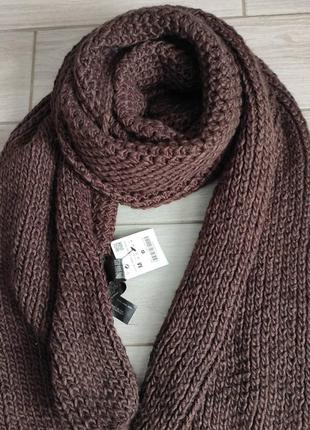 Вязаный теплый шарф zara