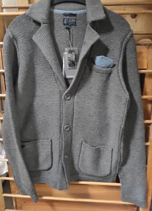 Крутой вящаный пиджак blue rags