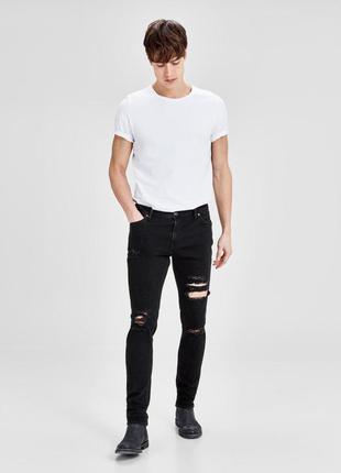 Мужские зауженные джинсы jack & jones