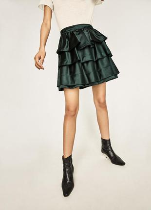 Шикарная юбка с воланами zara