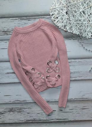 9-10 лет свитер со шнуровкой primark
