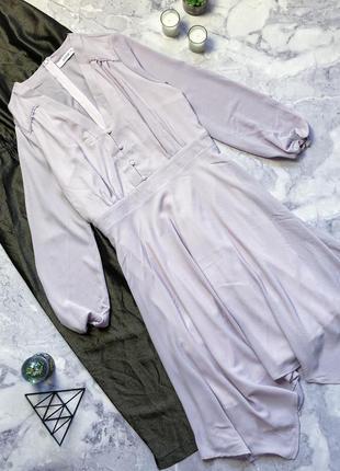 Шикарное нежное лавандового цвета платье рубашка just lili