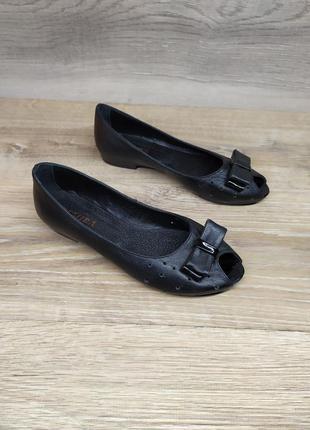 Кожаные туфли на танкетке 36р (новые, натуральная кожа)