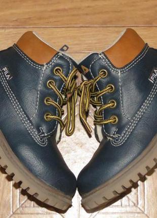 Детские зимние ботинки сапоги fila{оригинал}р.21
