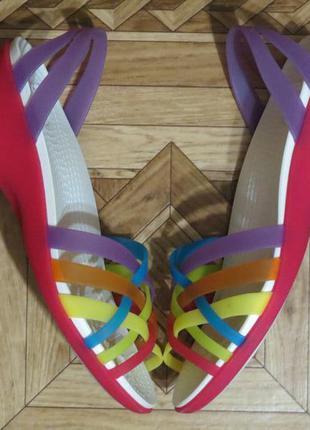 Летние босоножки сандалии crocs крокс{оригинал}р.w6{36-37}