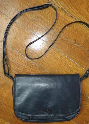 Кожаная сумка через плечо  клатч, кросс-боди