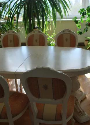 Стол и 12 стульев Италия БУ