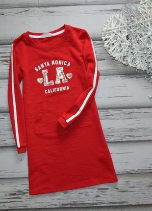 6-8 лет платье свитшот h&m