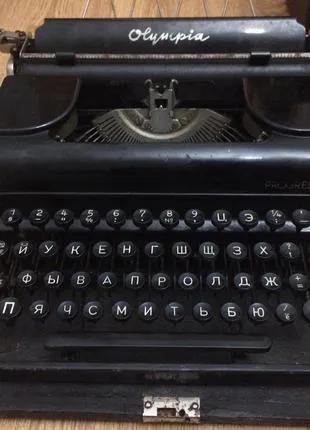 Печатная машинка Olympia 1930-х годов раритет антиквариат
