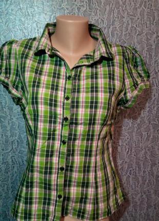 Рубашка в клетку. h&m