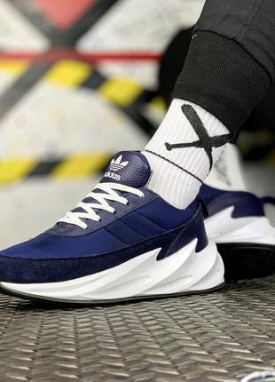 Adidas sharks blue white, мужские кроссовки адидас