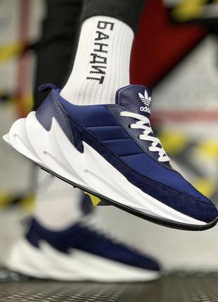 Кроссовки мужские adidas sharks blue white