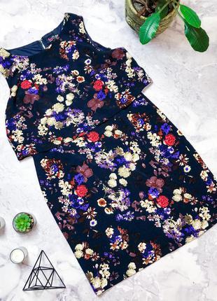 Шикарное платье в цветы с замком на спине love label