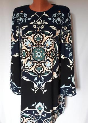 Шикарное платье-миди свободного кроя warehouse (размер 14-16)