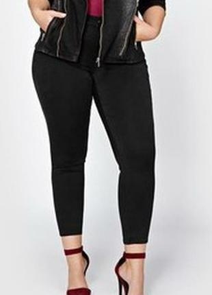 Классные стрейчевые черные леггинсы скинни джинсы без молнии в...