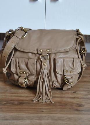 Кожаная сумка кроссбоди warehouse / шкіряна сумка