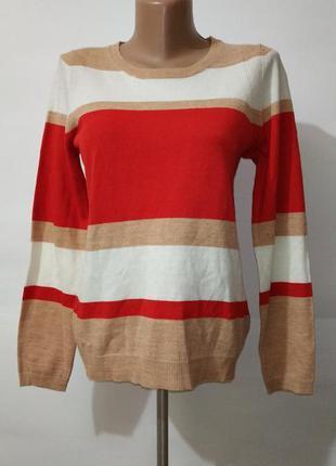 Джемпер пуловер красивый новые в полоску marks&spencer uk 8/36/xs
