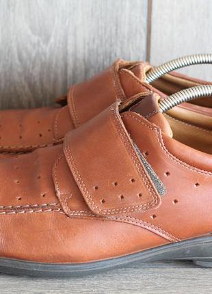 Шикарные кожаные  туфли на широкую стопу jomos