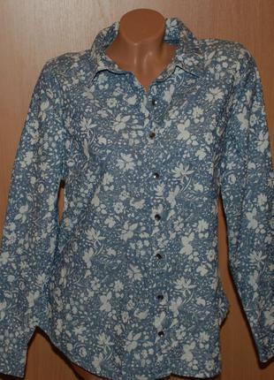 Блуза принтованая бренда george / 100%хлопок/