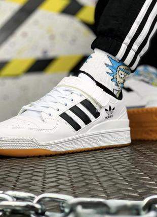 Adidas forum white black, мужские кроссовки адидас